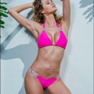 Brand new Chi Swimwear 2-piece bikini pink set